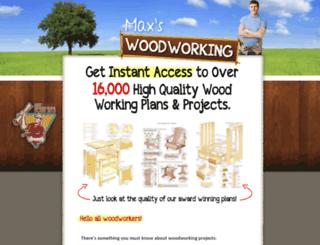 maxswoodworking.com screenshot
