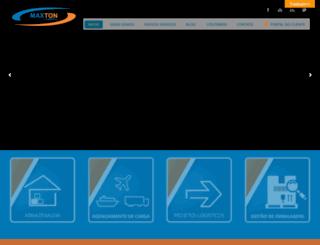 maxtonlogistica.com.br screenshot