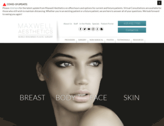 maxwellaesthetics.com screenshot