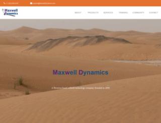 maxwelldynamics.com screenshot