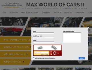 maxworldofcars.com screenshot