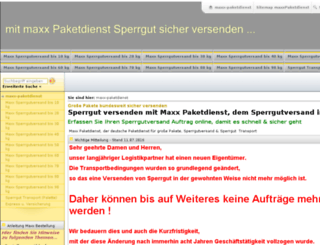 maxx-paketdienst.de screenshot