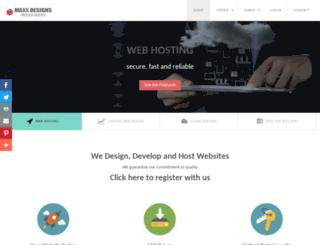 maxxdesigns.com screenshot