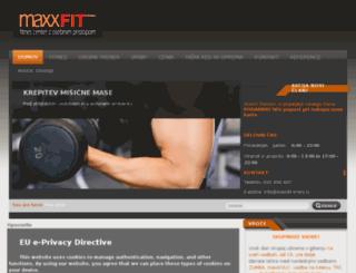 maxxfit-kranj.si screenshot