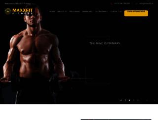 maxxfit.in screenshot