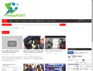 maxyfoot.net screenshot