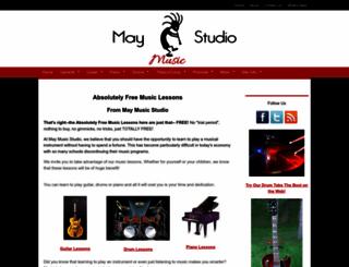 may-studio-music-lessons.com screenshot