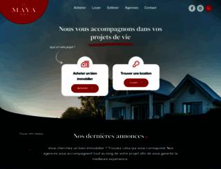 maya-immo.com screenshot
