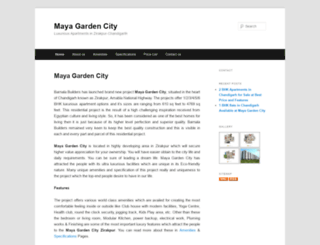 mayagardencity.propertywala.com screenshot