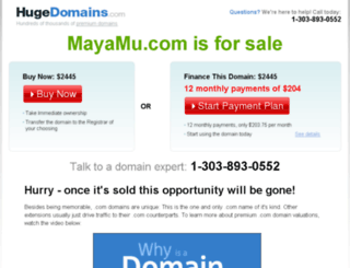 mayamu.com screenshot