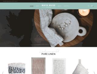 mayamusetextiles.com.au screenshot