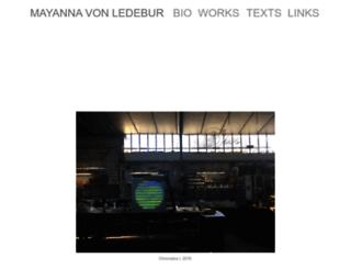 mayannavonledebur.com screenshot