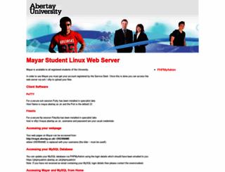 mayar.abertay.ac.uk screenshot