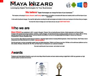 mayawizard.com screenshot