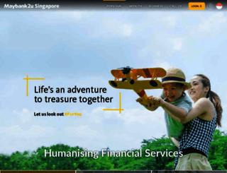 maybank2u.com.sg screenshot