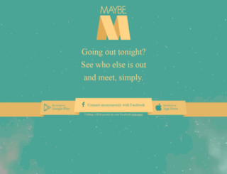 maybeapp.com screenshot
