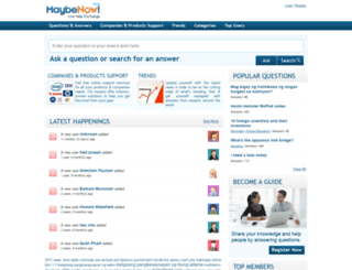 maybenow.com screenshot