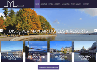 mayfairhotels.ca screenshot