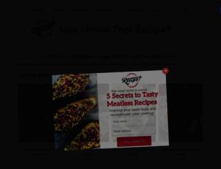 mayihavethatrecipe.com screenshot