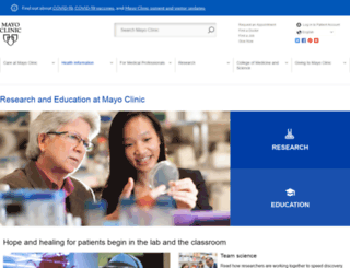 mayo.edu screenshot