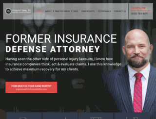 mayorlaw.com screenshot