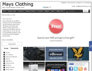 maysclothing.co.uk screenshot