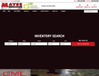mayseautomotive.com screenshot