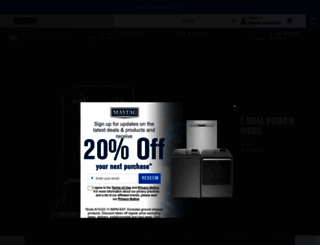 maytag.com screenshot