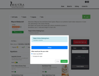 mayura.clorder.com screenshot