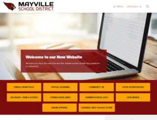 mayville.k12.wi.us screenshot
