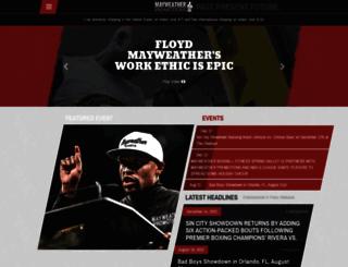 mayweatherpromotions.com screenshot