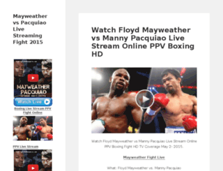 mayweathervspacquiao-live-streaming.com screenshot