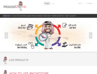 mazadzone.com screenshot