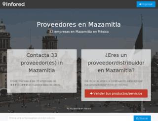 mazamitla.infored.com.mx screenshot