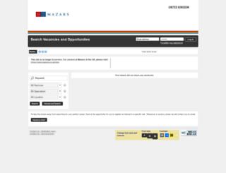 mazarscareers.engageats.co.uk screenshot
