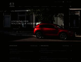 mazda.com screenshot