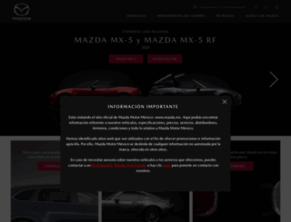 mazdamexico.com.mx screenshot