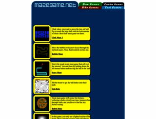 mazegame.net screenshot