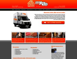 mazeremovals.co.uk screenshot