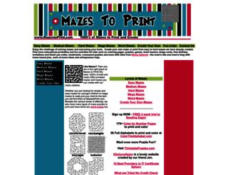 mazestoprint.com screenshot