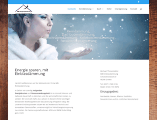 mb-einblasdaemmung.de screenshot