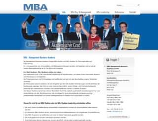 mba.at screenshot