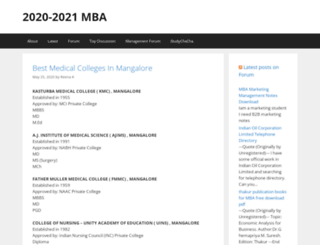 mba.ind.in screenshot