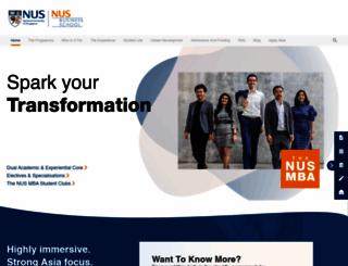 mba.nus.edu.sg screenshot