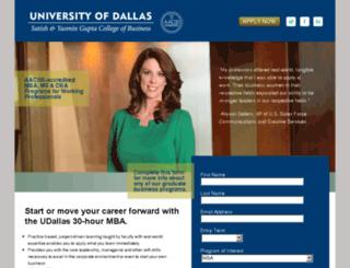 mba.udallas.edu screenshot