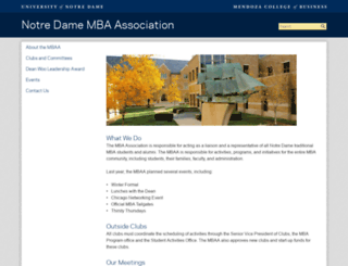 mbaa.nd.edu screenshot