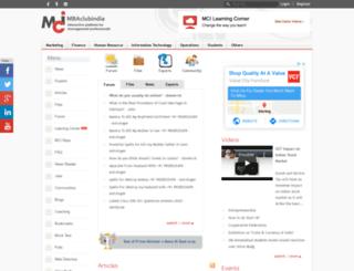 mbaclubindia.com screenshot