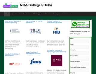 mbacollegesdelhi.co.in screenshot