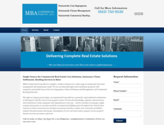 mbacommercialgroup.com screenshot