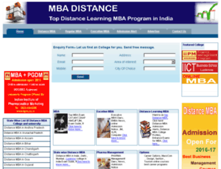 mbadistance.co.in screenshot